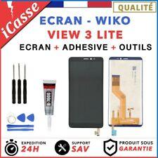 ECRAN LCD + VITRE TACTILE WIKO VIEW 3 LITE NOIR + OUTILS + COLLE