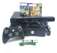 Microsoft Xbox 360 Slim 250gb + Kinect + Games Bundle 250gb **FREE UK POSTAGE**