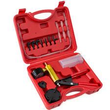Hand held Vacuum Pressure Pump Set Car Brake Fluid Bleeder Tester Tool Kit +Case