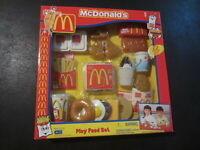VTG 2001 McDonalds Play Food Set Nuggets Pie Egg Sausage Bagel Hash Brown CDI