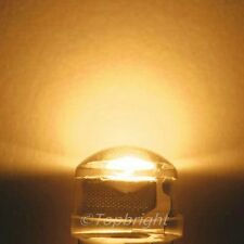 30 PCs 1W 8mm 140° StrawHat Warm White LED 220,000mcd