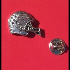 English Pewter USA American NFL Football Helmet Pin Badge Tie Pin/Lapel Badge S3