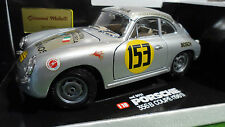 PORSCHE 356B COUPE # 153 Gris 1/18 BURAGO voiture miniature Made Italy giovanni