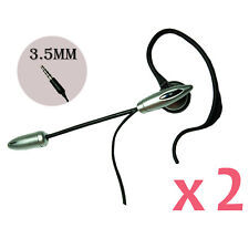2pcs of 3.5mm Ear Hook Boom Mic. Handsfree Headset for Apple iPhone 6 / 6 Plus