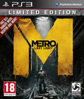Metro Last Light Limited Edition PS3 NEW AND SEALRD FREE EXPRESS POSTAGE
