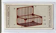 (Jk225-100) Ogdens,Optical Illusions,The Wire Box,1923 #24