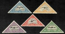 Airmail Aircraft Aeroplanes Estonia Estland Triangle MNH Stamps 1924