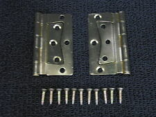 Mobile Home RV Parts Interior Door Hinges Package of 2 Non-mortise Brass Finish