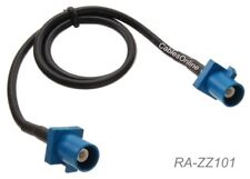 1ft Fakra Z Male to Fakra Z Male Water-Blue Color 50Ω Mini Coax RG174 Cable