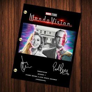 WandaVision Autographed Signed Pilot Script Transcript Reprint Full Transcript