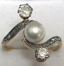 Antique Diamond Gold & Platinum Ring