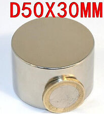 Ndfeb Disc Neodymium Magnet N52 Diameter 50mm Thickness 30mm Cylinder Magnets