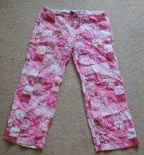 Victoria Secret Pink Patchwork Pajama Lounge Pants Large