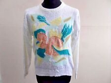 "CARTHAGO WOMENS VINTAGE JUMPER MULTICOLOURED SIZE 38"" CHEST GRADE A LB584"