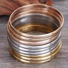 Women 9 Pcs Gold Silver Rose Bracelets Set Stainless Steel Punk Bangle Jewelry