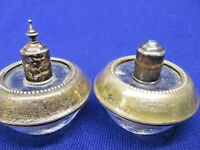 Vintage Frank M Whiting Sterling Silver Hy Glo Table Lighter set W Glass Bottom