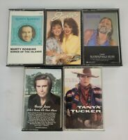 5 Country Cassette Tapes The Judds, Willie Nelson, George Jones, Tucker, Robbins