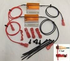 50w 6 ohm  Load Resistors & E -Flasher Kit for Hyper Flash caused by LED Bulbs