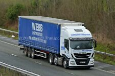 Truck Photo 12x8 - Iveco Stralis - Webb Distribution - WN19 JZO