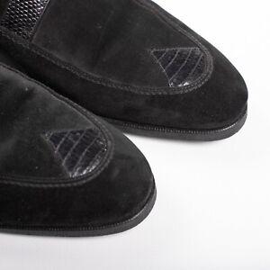 Great $3650 Artioli SNAKESKIN FUR SOLE Derby Suede Shoes 9,5UK/10,5US /43,5EU