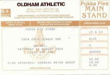 Ticket - Oldham Athletic v Walsall 14.08.04