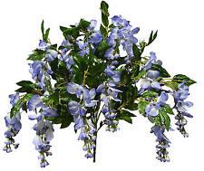 Blue Wisteria Bush Poly Silk Wedding Home Decor Craft Flower