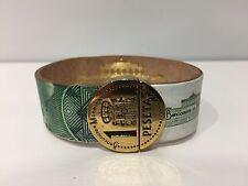 New - Pulsera Bracelet - Banconote e Monete 1 PESETA - 1000 Pesetas - Size 19 cm