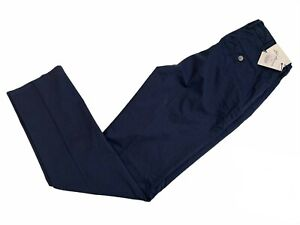Peter Millar Men's Crown Flat Front Blue Pants Sz 38 x 35 NWT