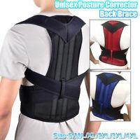 Unisex Scoliosis Posture Corrector Back Brace Belt Shoulder Support Pain Relief