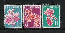 ALBANIA-1961-SERIE DI 3 VALORI NUOVI STL -FIORI DIVERSI-IN OTTIME CONDIZIONI.