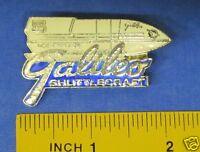 Star Trek V The Final Frontier Galileo Shuttlecraft & Logo Pin Badge STPIN9717
