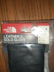 Supreme North Face Leather Black Gloves Medium - FW17 New TNF M