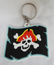 Pirate Flag / Jolly Roger Keyring / Key Ring - BNIB - Assorted Colours