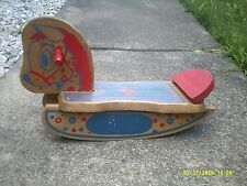 Vtg Painted 1950'S-1960'S Childs Wooden Rocking Horse-Estate-Nice-!