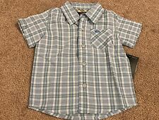 "QUIKSILVER ""BarclayS"" Infant Boys Button Down Pocket Dress Shirt 12 Mo. NWT"
