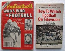 """(2) Football Paperbacks: """"How To Watch Football On TV"""" & """"Who's Who In Football"""""""