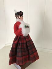 Simpich Character Doll Caroler with Muff In Plaid Skirt