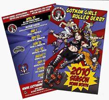 Gotham Girls Roller Derby - 2010 Season Schedule on a Full Color Glossy Postcard