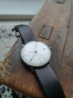 Junghans max bill stainless steel quartz watch unisex