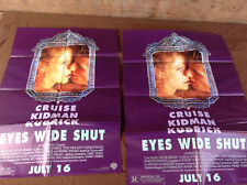 2 1999 Eyes Wide Shut Original Movie House Full Sheet Posters