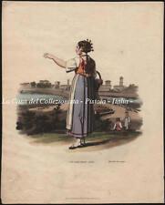 """(Lombardia - Lodigiano) LODI. """"Costume near Lodi"""". Incisione anno 1821."""