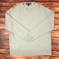 NWOT French Connection M432 Mens XXL 2XL Gray L/S Crewneck Pullover Sweater