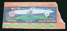 Armenia Football Republic Of Ireland Soccer Ticket 2010 Euro 2012 Qualification