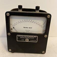 Rare Antique Weston Electrical Trunks Busy Zero Corrector Voltmeter Model 430