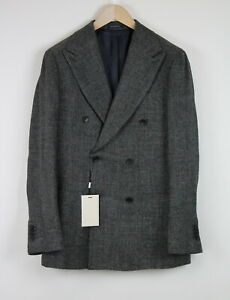RRP$449 SUITSUPPLY HAVANA Men UK36R Double Breasted Slim Cut Grey Blazer 20664*