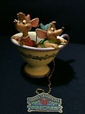 "New ListingJim Shore Cinderella ""Tea For Two"" Jaq/Gus Disney Traditions Showcase Collection"