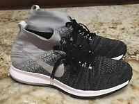 NIKE Air Pegasus All Out Flyknit Grey Black Training Running Shoes Youth Mens 7
