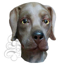 Latex Full Head Animal Chocolate Labrador Dog Fancy Dress Up Carnival Mask