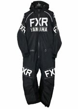 NEW FXR YAMAHA MONOSUIT-CLUTCH INSULTATED BLACK/WHITE SNOWMOBILE OVERALLS