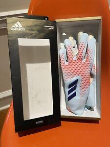 New! $150 Adidas Predator 20 Pro PC Goalkeeper Soccer Gloves Sz 10 Sky Blue URG